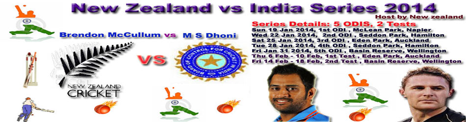 New Zealand Vs India Series 2014