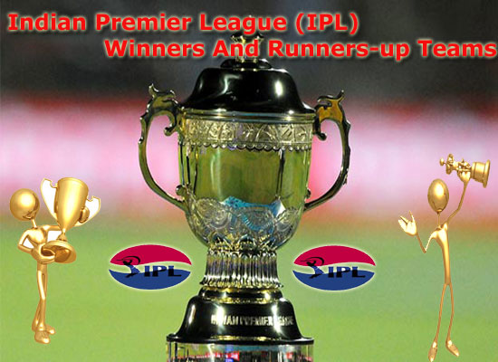 IPL Winners And Runners-up Teams